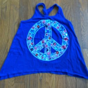 Justice Size 10 jeweled peace tank top